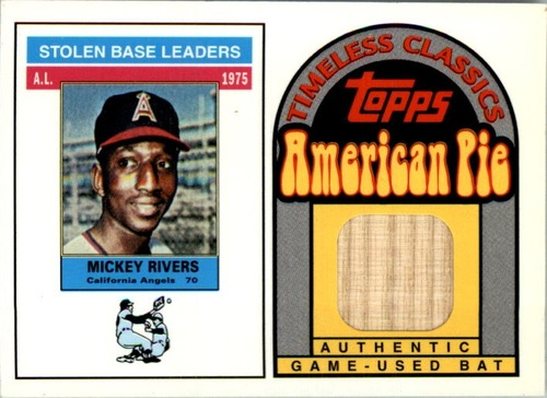 Photo of 2001 Topps American Pie Timeless Classics Relics #BBTC32 Mickey Rivers 76 Bat