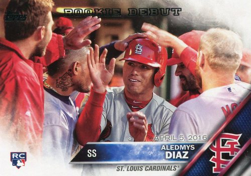 Photo of 2016 Topps Update #US44 Aledmys Diaz -- St. Louis Cardinals rookie debut card
