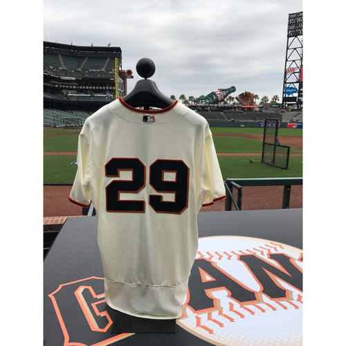 Photo of San Francisco Giants - Home Opening Day Jersey - Game Used - Jeff Samardzija #29