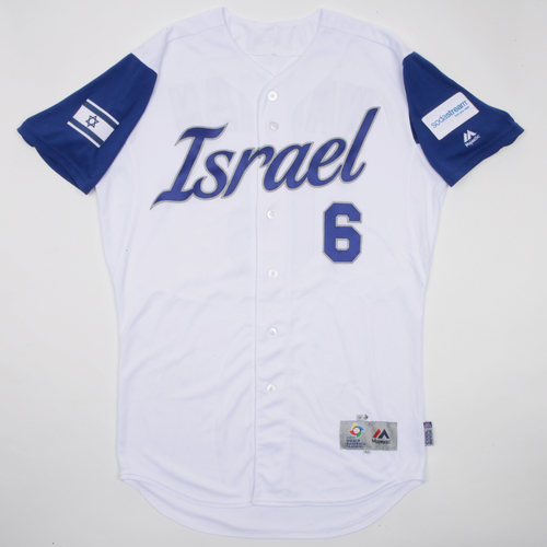 2017 World Baseball Classic: Lavarnway #36 Israel Game-Used Home Jersey
