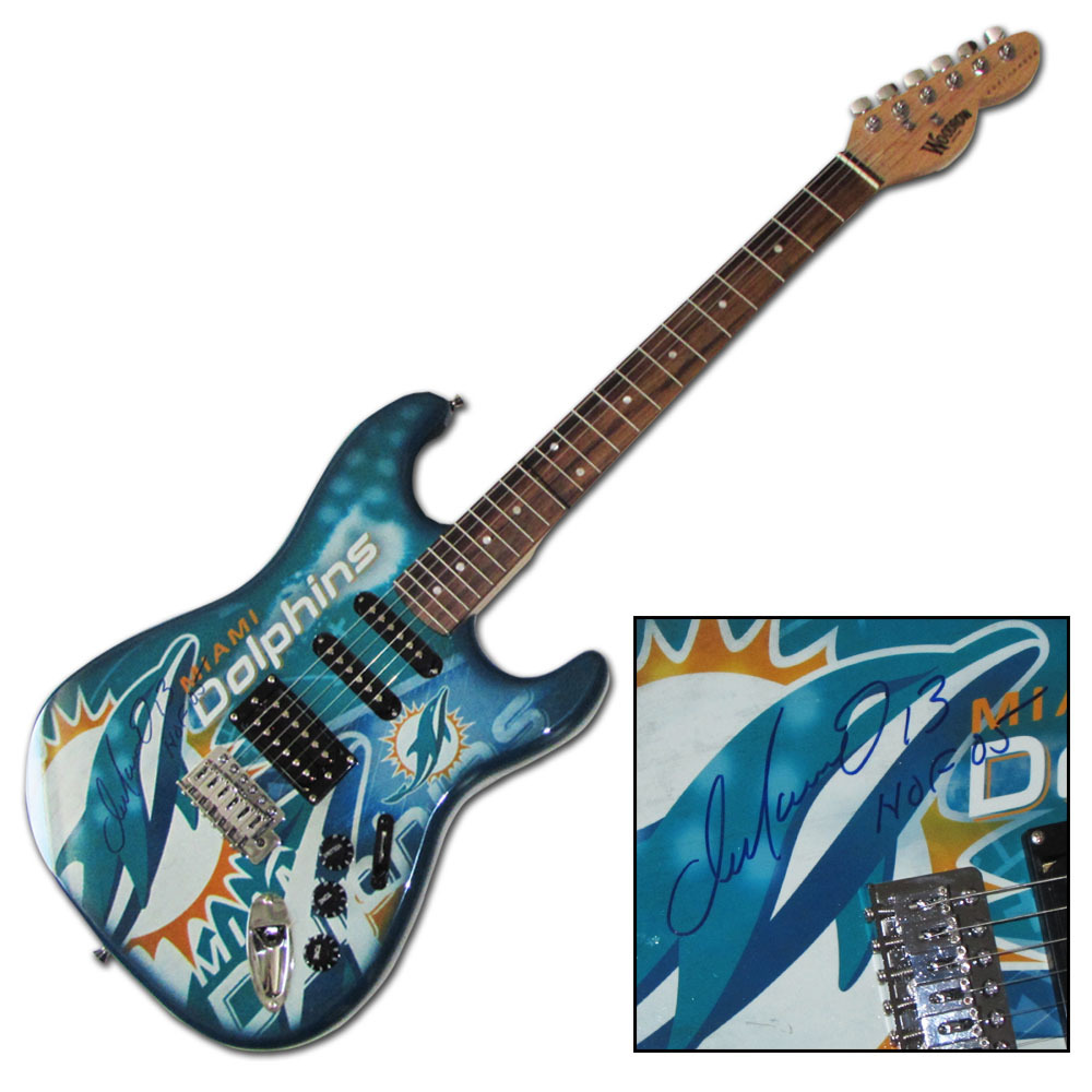 Dan Marino Autographed Miami Dolphins Limited-Edition Woodrow Guitar