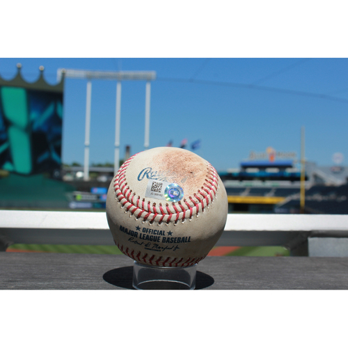 Photo of Game-Used Baseball: Scott Alexander Strike Out (6/20/17 BOS at KC)