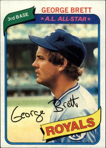 Photo of 1980 Topps #450 George Brett Hall of Famer