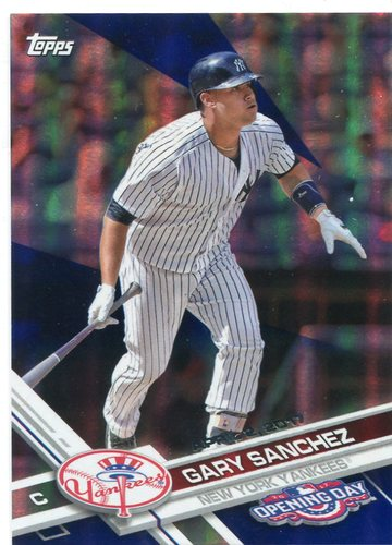 Photo of 2017 Topps Opening Day Blue Foil #170 Gary Sanchez -- ALDS roster