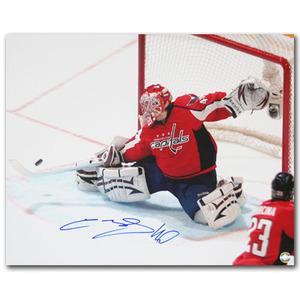 Semyon Varlamov Autographed Washington Capitals 16X20 Photo (Colorado Avalanche)