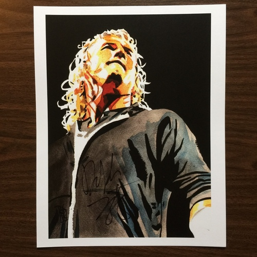 "Photo of Dolph Ziggler SIGNED 11"" x 14"" Rob Schamberger Print"