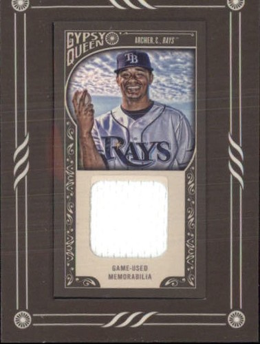 Photo of 2015 Topps Gypsy Queen Framed Mini Relics #GMRCA Chris Archer