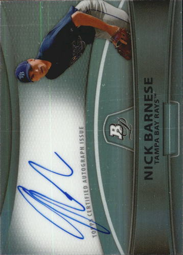 Photo of 2010 Bowman Platinum Prospect Autographs Green Refractors #NB Nick Barnese