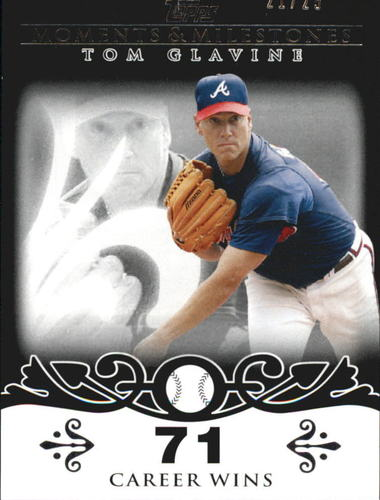 Photo of 2008 Topps Moments and Milestones Black #137-71 Tom Glavine