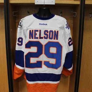 Brock Nelson - Game Worn Away Jersey - 2015-16 Season - New York Islanders