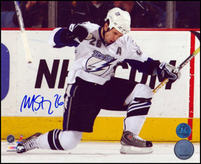 MARTIN St. Louis Tampa Bay Lightning SIGNED 8x10 Photo