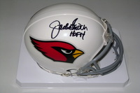 HOF - CARDINALS JACKIE SMITH SIGNED CARDINALS MINI HELMET