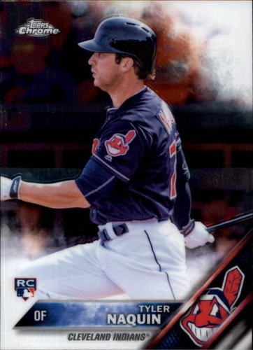 Photo of 2016 Topps Chrome #14 Tyler Naquin -- Cleveland Indians rookie card