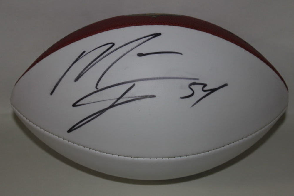 CHARGERS - MELVIN INGRAM SIGNED PANEL BALL (SLIGHT SMEAR ON SIGNATURE)