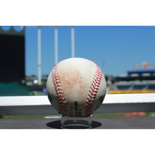 Photo of Game-Used Baseball: Jordan Zimmermann Strike Out (7/17/17 DET at KC)