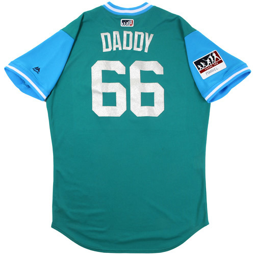 """Photo of Fleming """"Daddy"""" Baez Seattle Mariners Game-Used Players Weekend Jersey"""