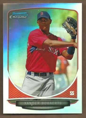 Photo of 2013 Bowman Chrome Draft Top Prospects Refractors #TP40 Xander Bogaerts -- Red Sox post-season