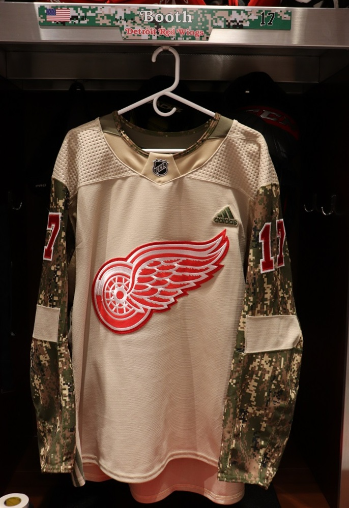 David Booth (#17) Military Appreciation Night Warm-Up Set