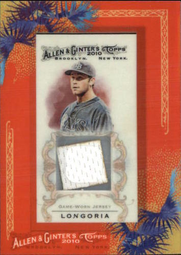 Photo of 2010 Topps Allen and Ginter Relics #EL Evan Longoria