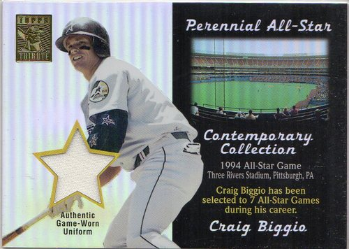 Photo of 2003 Topps Tribute Contemporary Perennial All-Star Relics #CB Craig Biggio Uni