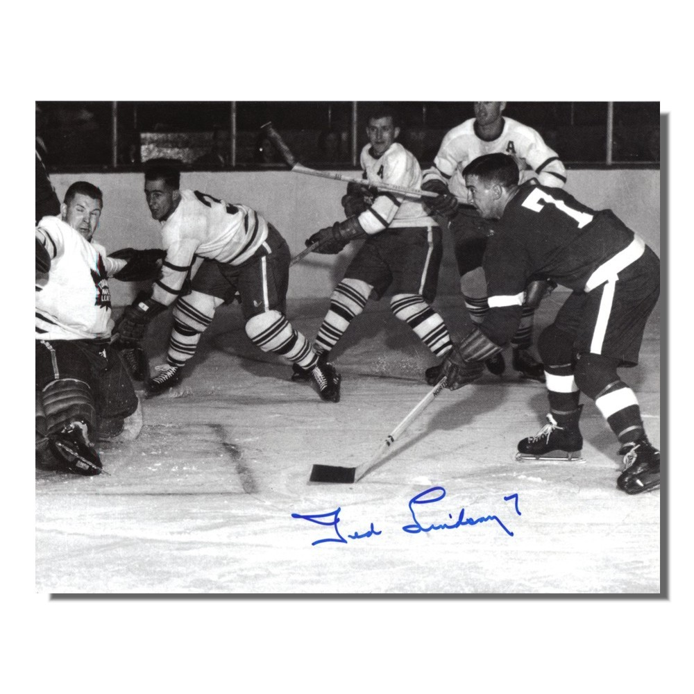 Ted Lindsay Autographed Detroit Red Wings 8x10 Photo