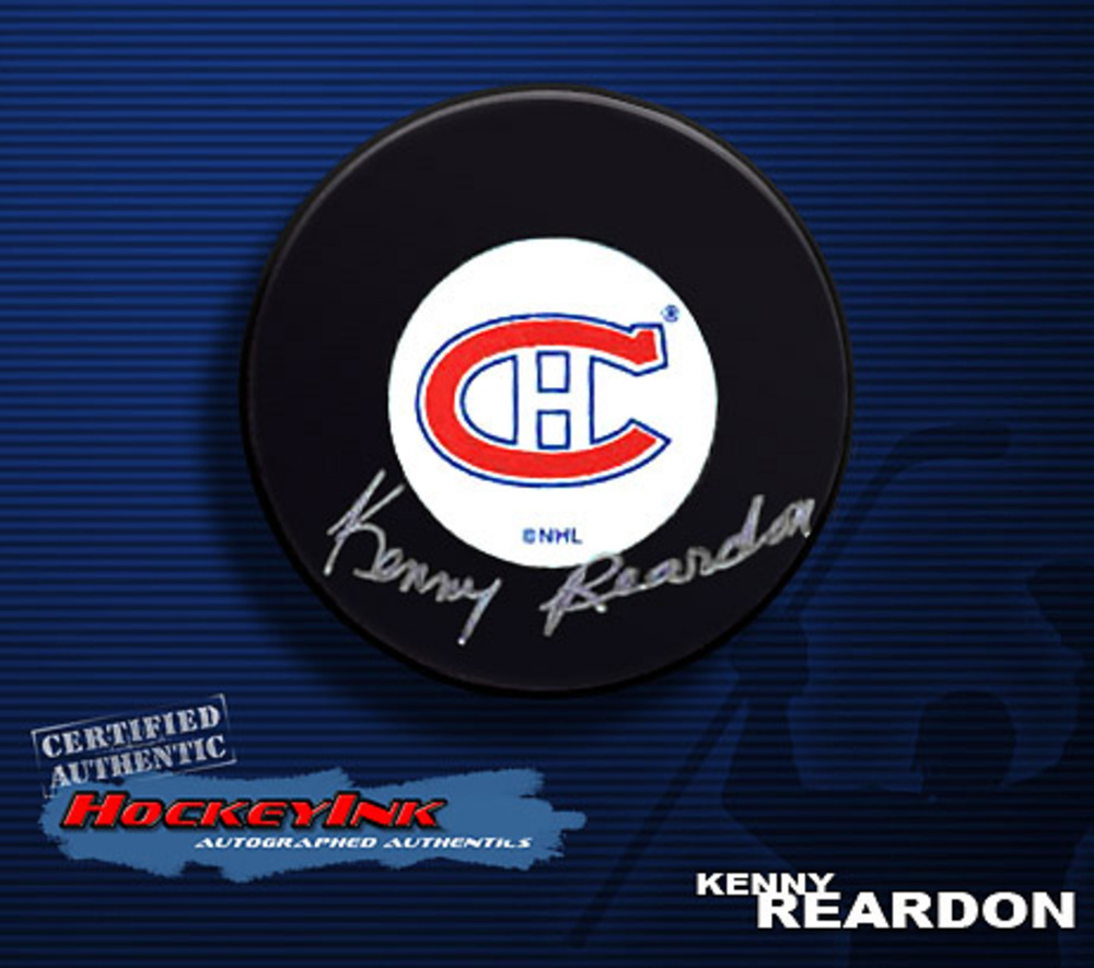 KENNY REARDON Signed Montreal Canadiens Hockey Puck