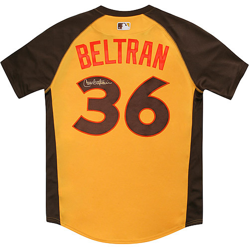 Photo of Carlos Beltran 2016 Major League Baseball Workout Day/Home Run Derby Autographed Jersey