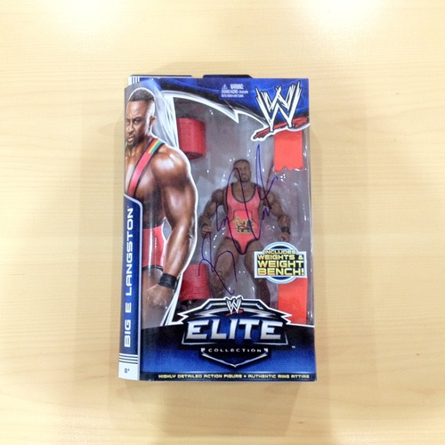 SIGNED Big E Elite Series 26 Action Figure