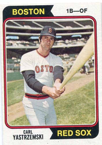 Photo of 1974 Topps #280 Carl Yastrzemski Hall of Famer