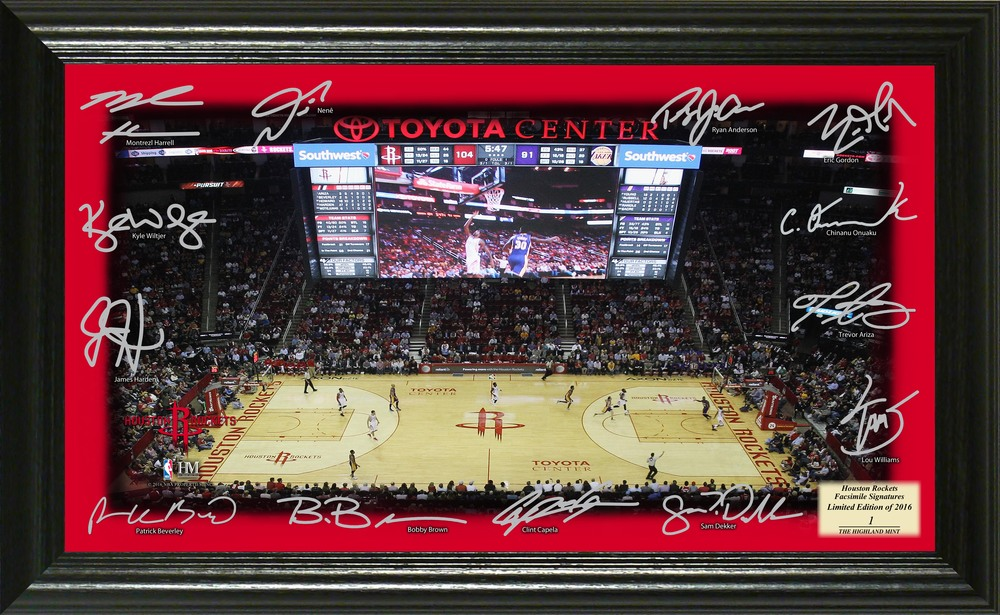 Serial #1! Houston Rockets Signature Court