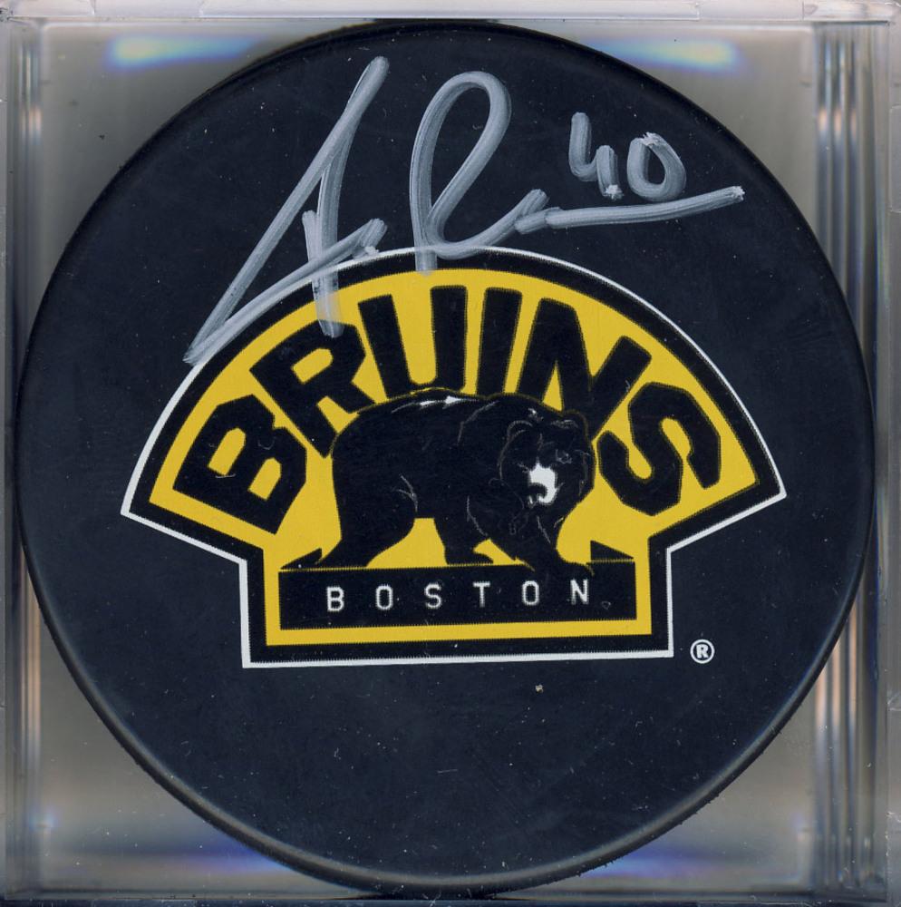 TUUKKA RASK Boston Bruins AUTOGRAPHED Hockey Puck