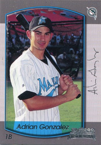 Photo of 2000 Bowman Draft #86 Adrian Gonzalez RC