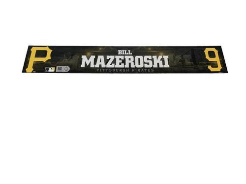 Photo of Bill Mazeroski Game-Used Spring Training Locker Name Plate
