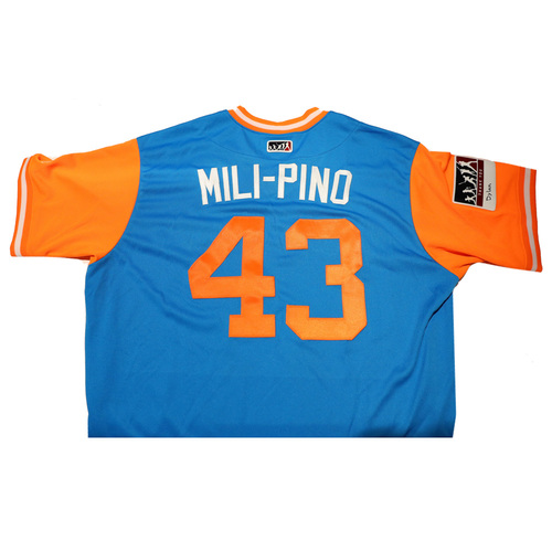 "Photo of Odrisamer ""Mili-Pino"" Despaigne Miami Marlins Game-Used Players Weekend Jersey"