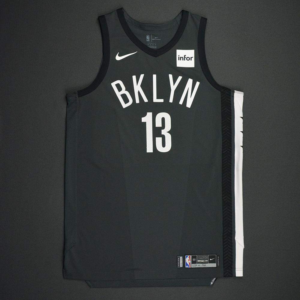 Quincy Acy - Brooklyn Nets - Statement Game-Worn Jersey - Dressed, Did Not Play - 2017-18 Season