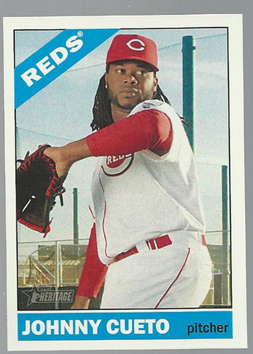 Photo of 2015 Topps Heritage #250A Johnny Cueto