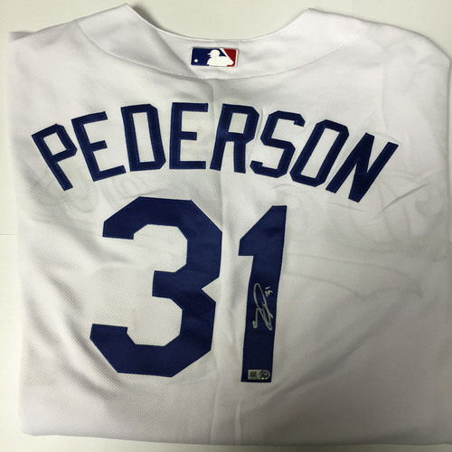 Photo of Joc Pederson Autographed Authentic Dodgers Jersey