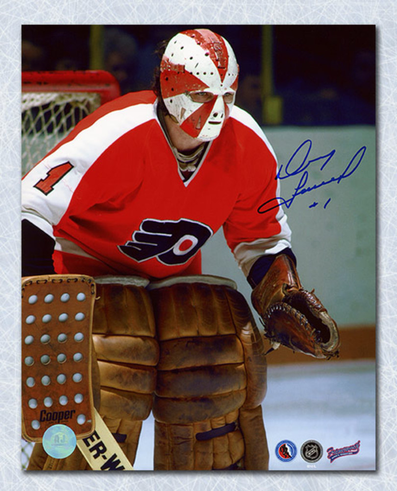 Doug Favell Philadelphia Flyers Autographed Goalie Close-Up 8x10 Photo
