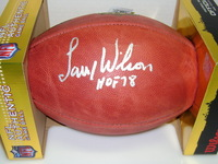 HOF - CARDINALS LARRY WILSON SIGNED AUTHENTIC FOOTBALL