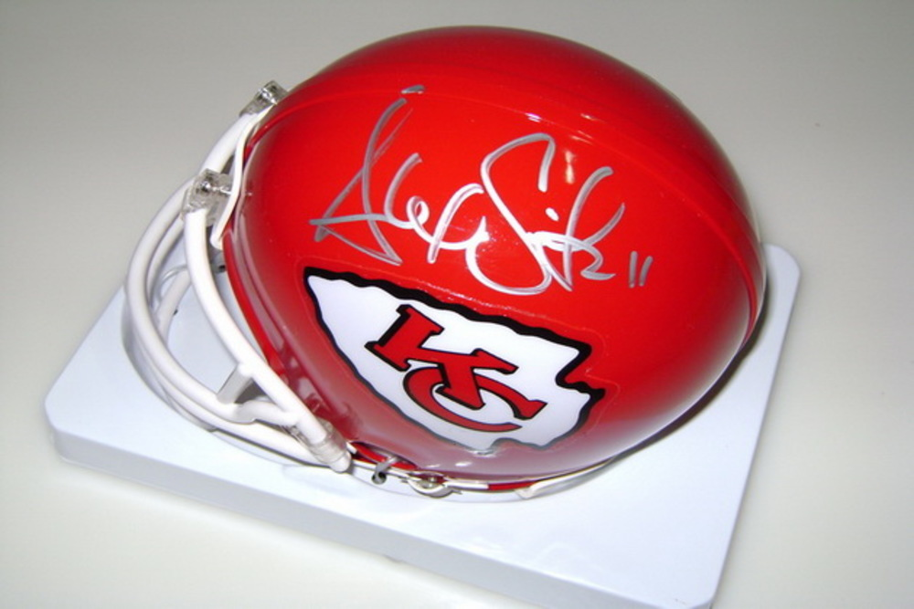 CHIEFS - ALEX SMITH SIGNED CHIEFS MINI HELMET
