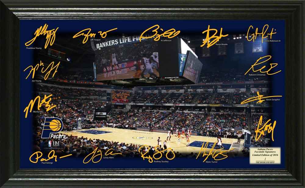 Serial #1! Indiana Pacers Signature Court