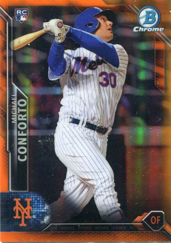 Photo of 2016 Bowman Chrome Orange Refractors #82 Michael Conforto