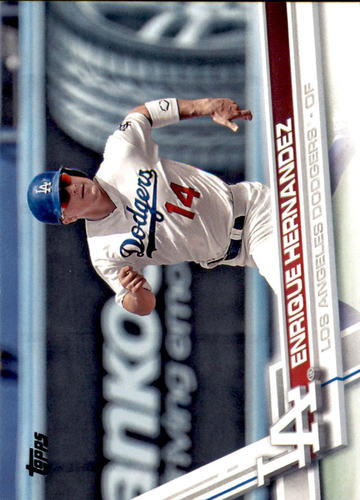 Photo of 2017 Topps #685 Enrique Hernandez -- Dodgers post-season