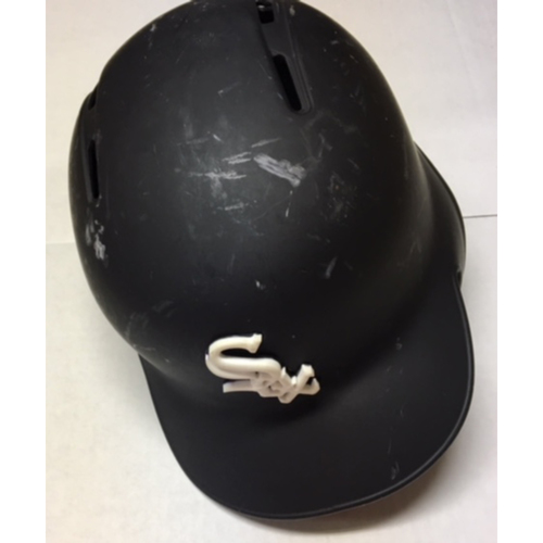 Photo of Yolmer Sanchez Team-Issued Black Matte Batting Helmet