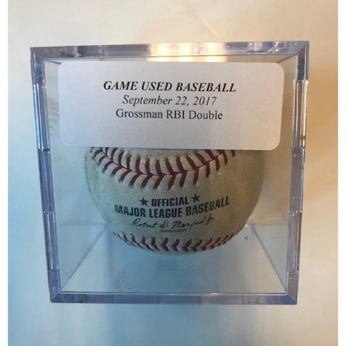 Photo of Game-Used Baseball: Robbie Grossman RBI Double