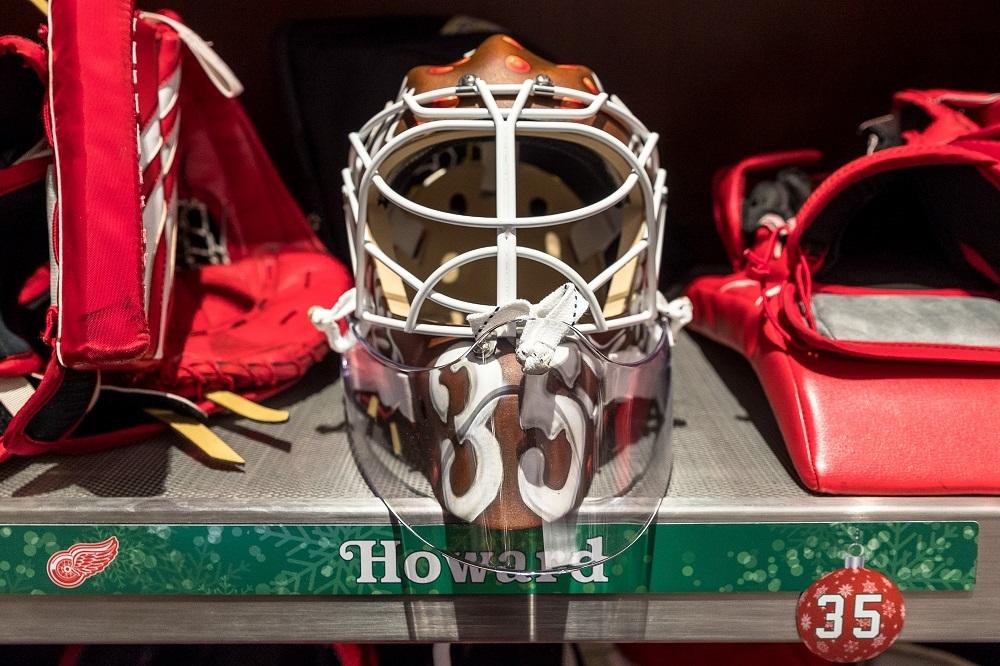 Jimmy Howard (#35)- Custom Holiday Goalie Mask