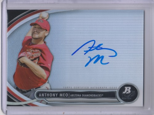 Photo of 2013 Bowman Platinum Prospect Autographs #AM Anthony Meo