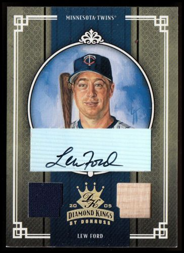 Photo of 2005 Diamond Kings Signature Materials Gold #132 Lew Ford Bat-Jsy/50