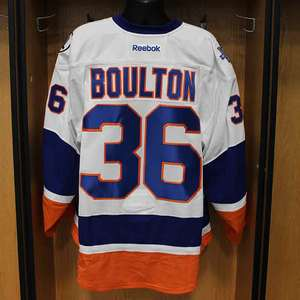 Eric Boulton - Game Worn Away Jersey - 2015-16 Season - New York Islanders