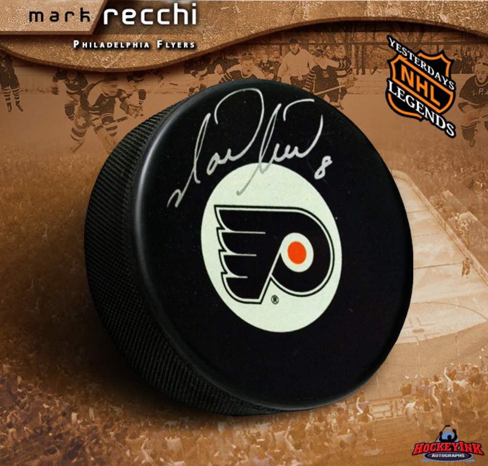 MARK RECCHI Signed Philadelphia Flyers Puck